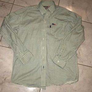Men's Sz Medium FR Plaid Long Sleeve Button Up